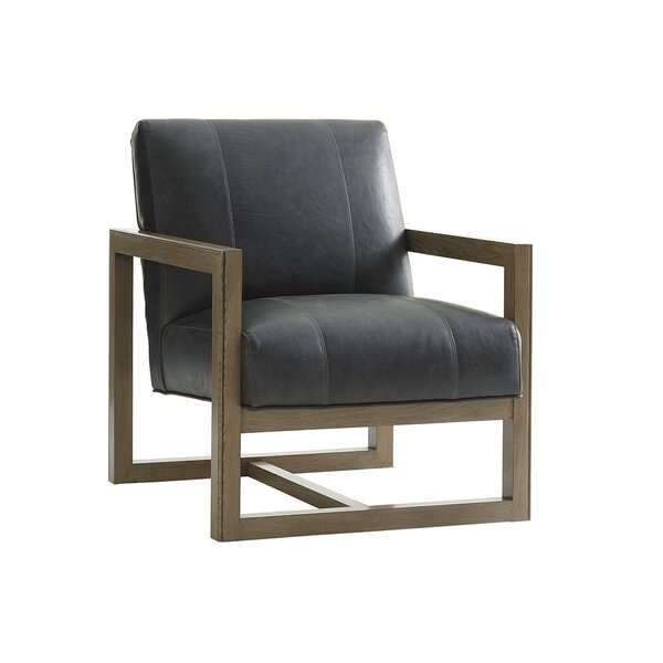 Shadow Play Leather Armchair by Lexington