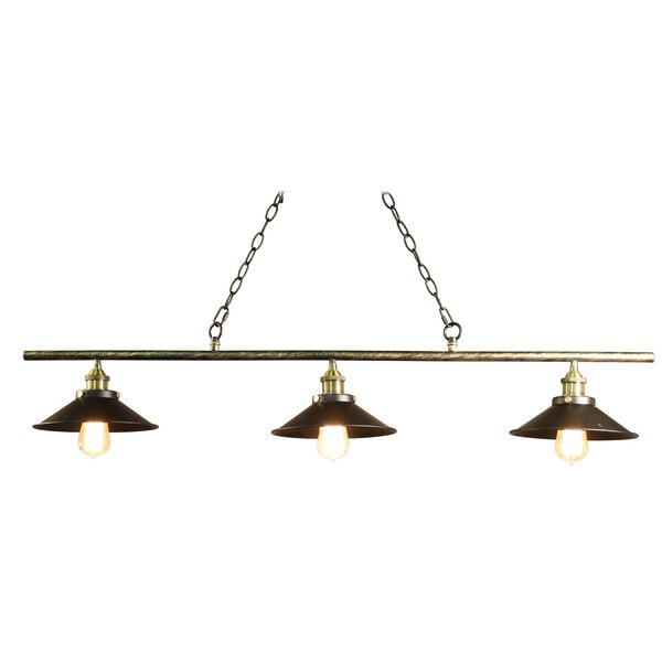 Olive 3-Light Pool Table Light by Warehouse of Tiffany