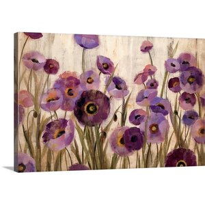 'Pink and Purple Flowers' by Silvia Vassileva Painting Print on Canvas by Canvas On Demand