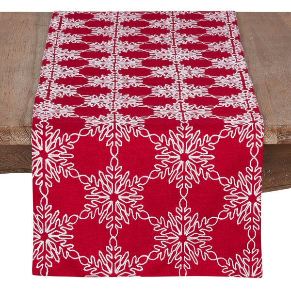 Baum Snowflake Christmas Table Runner by The Holiday Aisle