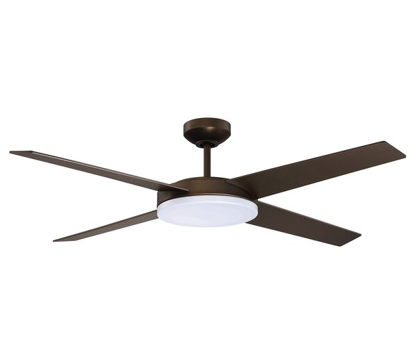 52 Senna 4-Blades Ceiling Fan with Remote by Latitude Run