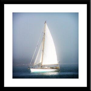 'Sail Boat in the Fog' by Jobe Waters Framed Photographic Print by Buy Art For Less
