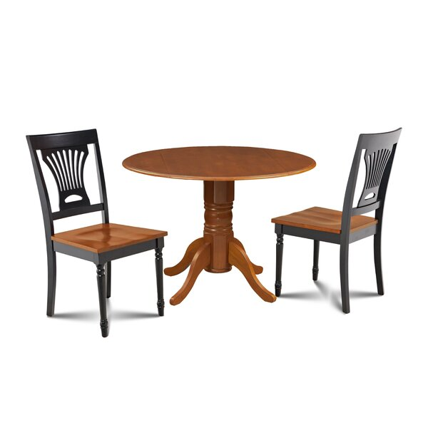 Mac 3 Piece Drop Leaf Solid Wood Dining Set by Millwood Pines