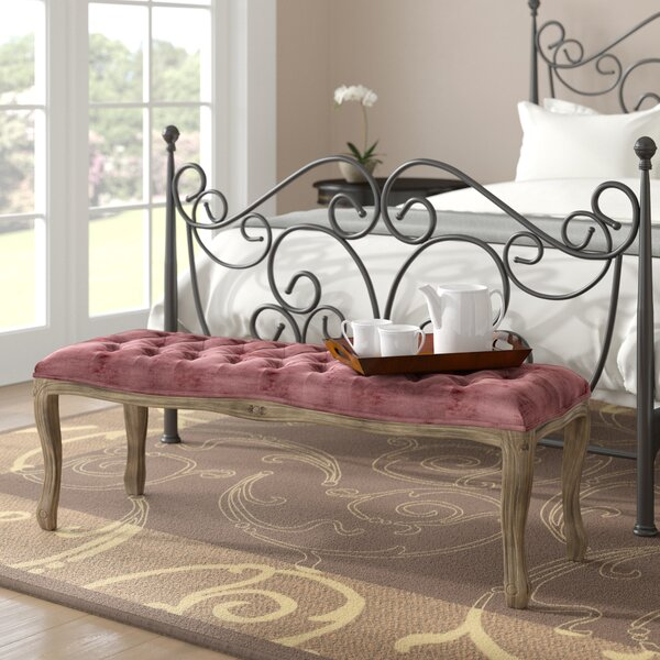 Burcham Upholstered Bench by Fleur De Lis Living