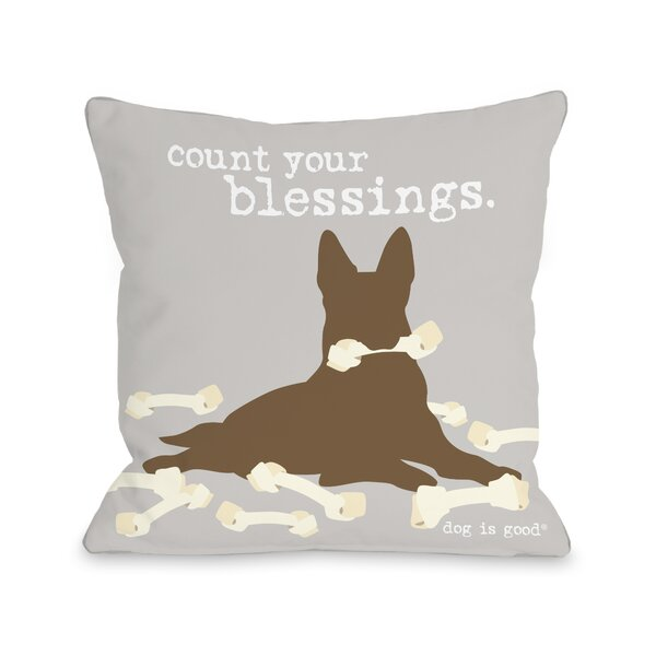 Blessings Throw Pillow by One Bella Casa