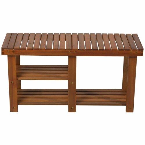 Bermudez Wood Storage Bench Marlow Home Co.