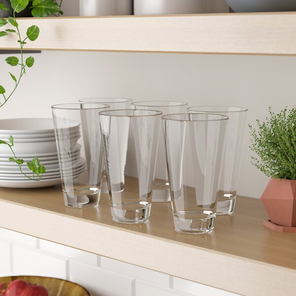 Arcade 21 oz. Acrylic Drinking Glass (Set of 6) by Three Posts