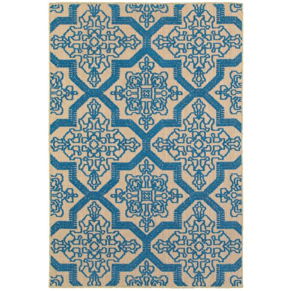 Barker Sand/Blue Indoor/Outdoor Area Rug by Sol 72 Outdoor