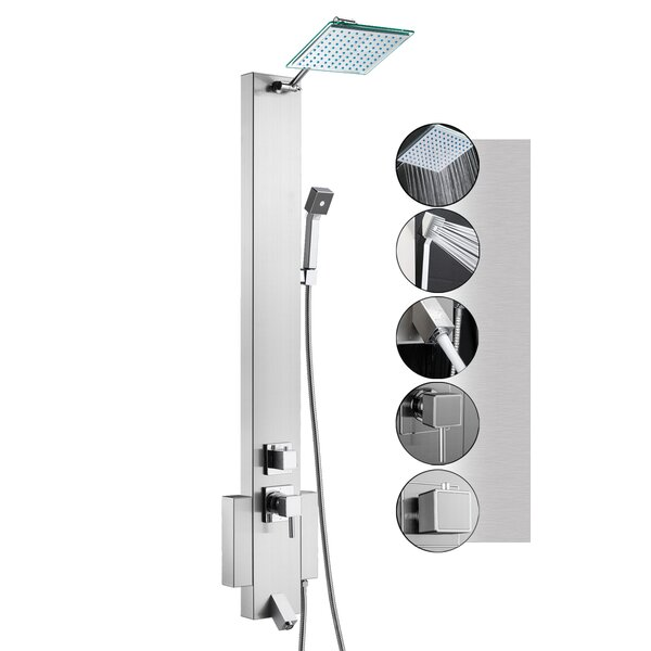 48 Rainfall Shower Panel Tower System With Handheld Shower Head And Tub Spout - Includes Rough-In Valve By Akdy.