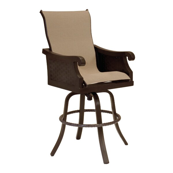 Jakarta Sling Swivel Patio Bar Stool by Leona