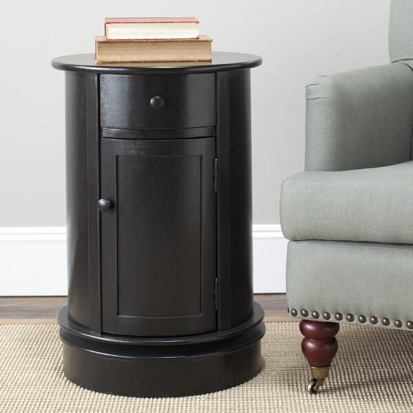 Tufts Swivel End Table by Charlton Home