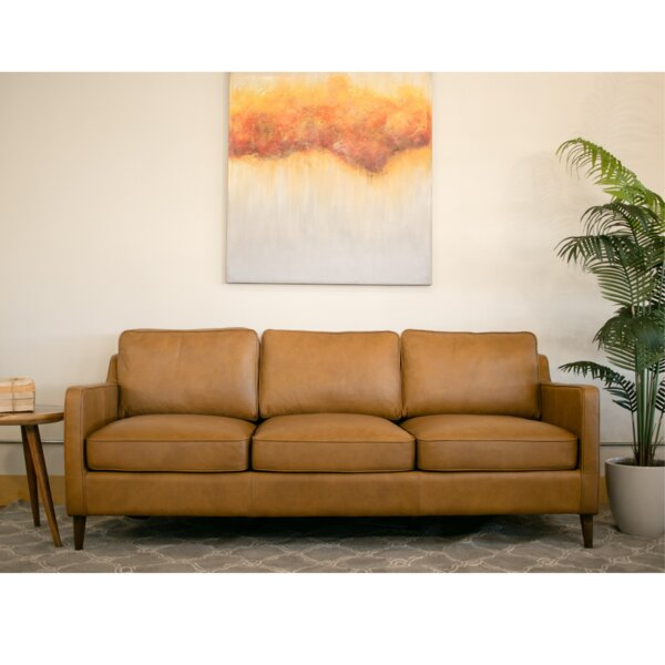 Deirdre Leather Sofa by Corrigan Studio