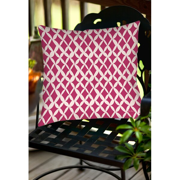 Banias Diamond Indoor/Outdoor Throw Pillow by Manual Woodworkers & Weavers