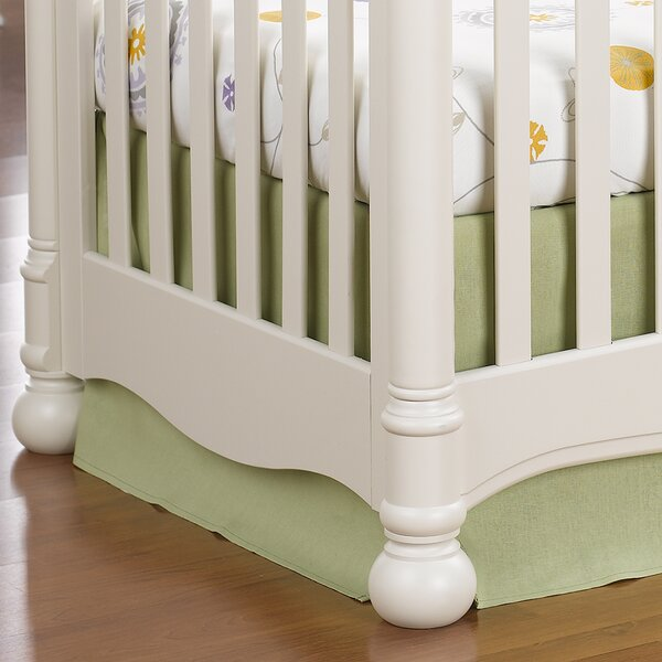 Sweet Linen Crib Skirt by Liz and Roo Fine Baby Bedding