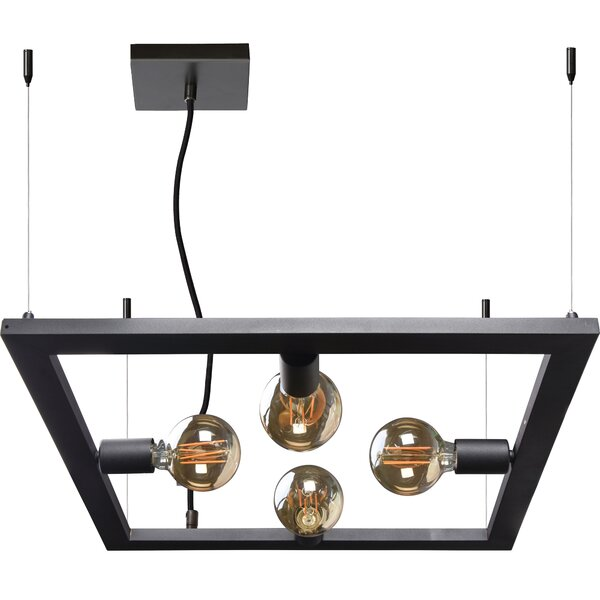Ciupan 4 - Light Unique / Statement Square / Rectangle Chandelier by Brayden Studio Brayden Studio