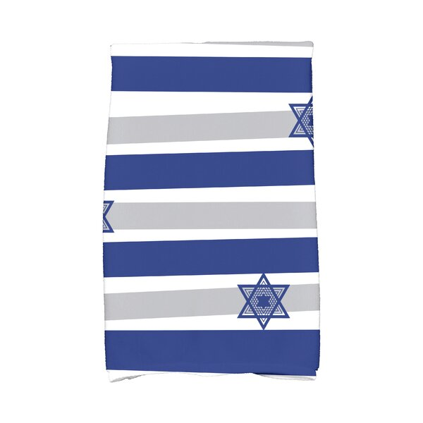 Hanukkah Star Stripes Hand Towel by The Holiday Aisle