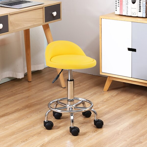 Vanity Stool On Wheels Wayfair