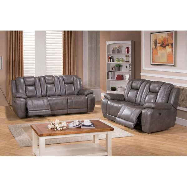 Fae Reclining 2 Piece Leather Living Room Set by Red Barrel Studio
