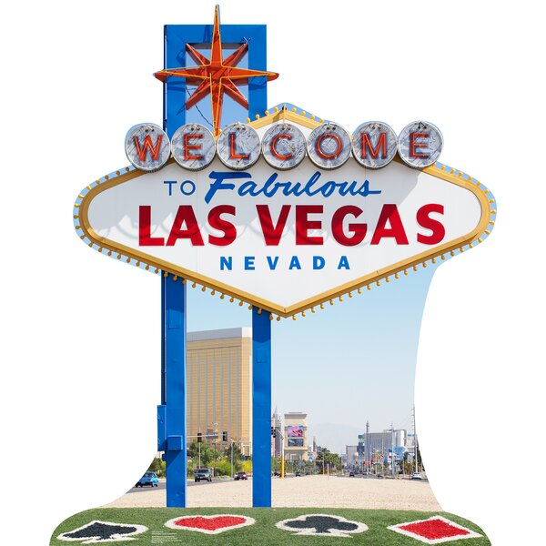 Vegas Sign Cardboard Standup by Advanced Graphics