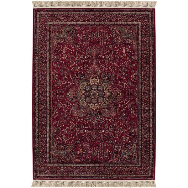 Emory All Over Center Cranberry Red Area Rug by Bloomsbury Market