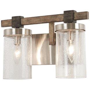 Reviews Lipscomb 2-Light Vanity Light ByUnion Rustic