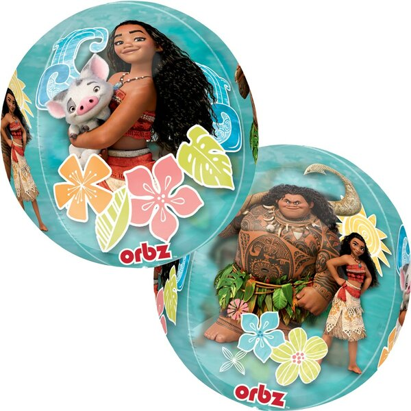 2 Piece Set Moana Foil Disposable Orbz Balloon Set [NA]
