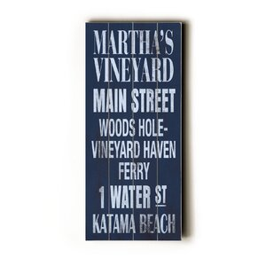 Martha's Vineyard Transit by Cory Steffen Textual Art Plaque by Artehouse LLC