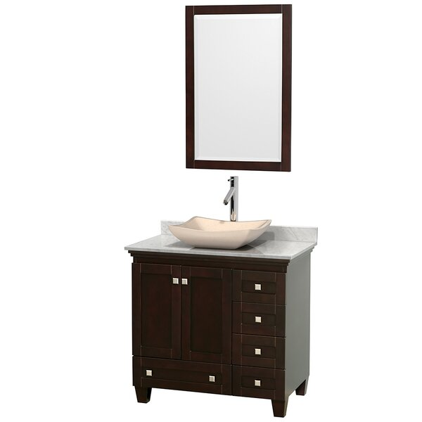 Acclaim 36 Single Espresso Bathroom Vanity Set with Mirror by Wyndham Collection