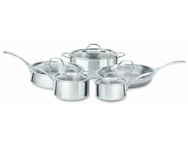 Tri-Ply Stainless Steel 10 Piece Cookware Set by Calphalon
