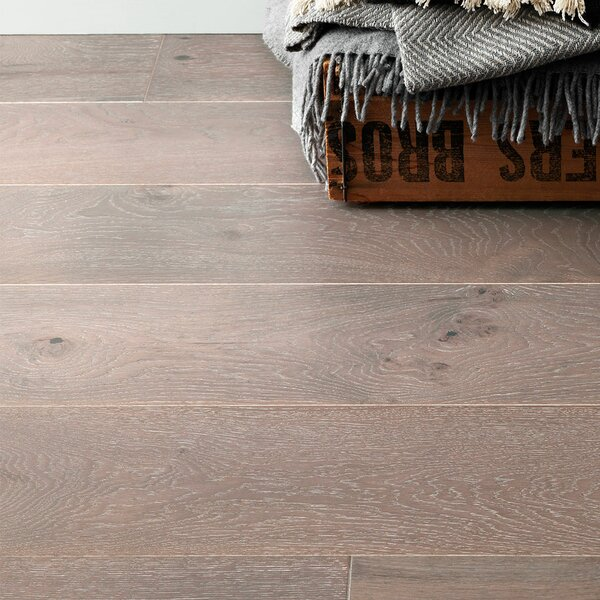 Salcombe Harbour 7-1/2 Engineered Oak Hardwood Flooring in Gray by Woodpecker