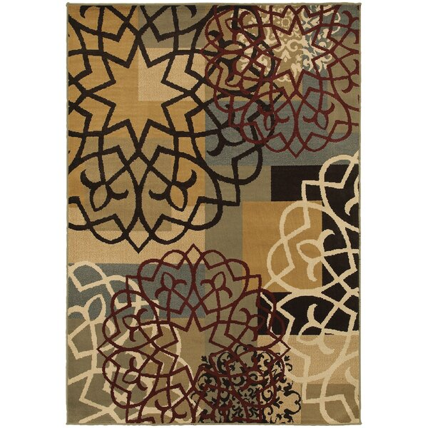 Sheridan Multi/Gold Area Rug by Threadbind