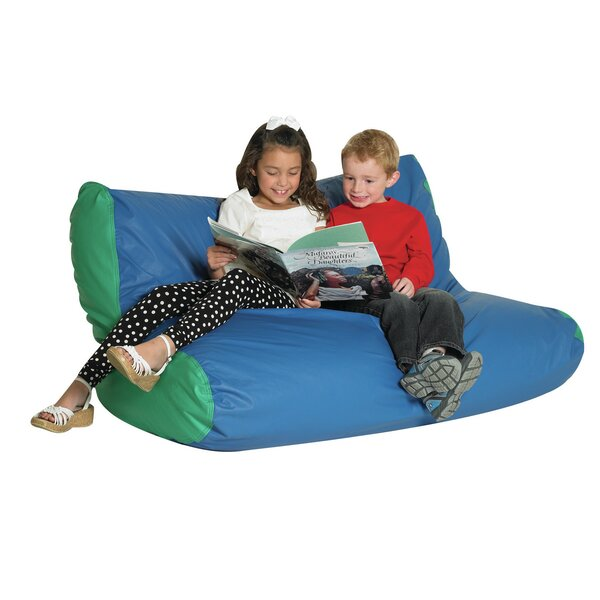 Extra Large Faux Leather Bean Bag Chair & Lounger By Children's Factory