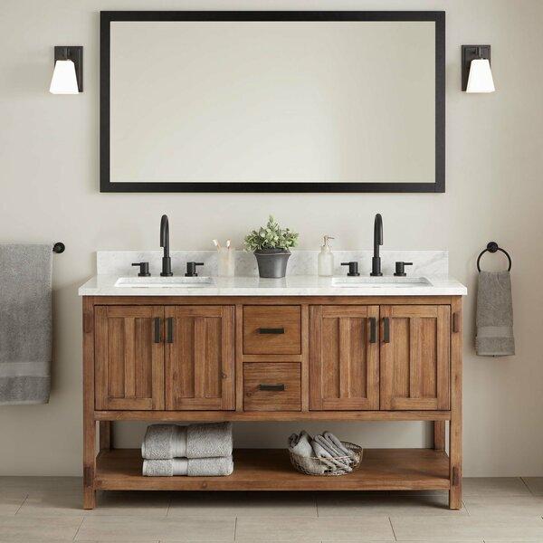 Morris Marble 61 Double Bathroom Vanity Set