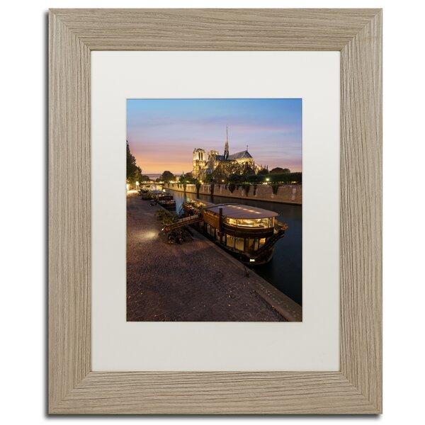 Sunset in Notre Dame de Paris by Mathieu Rivrin Framed Photographic Print by Trademark Fine Art
