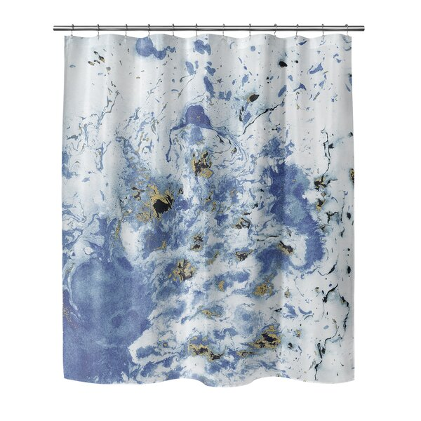 Waneta Marbled Shower Curtain by Brayden Studio