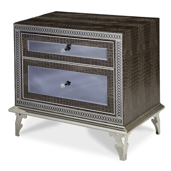 Hollywood Swank 2 Drawer Nightstand by Michael Amini