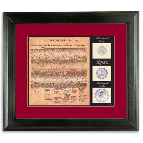Birth of a Nation Declaration of Independence Framed Memorabilia by American Coin Treasures