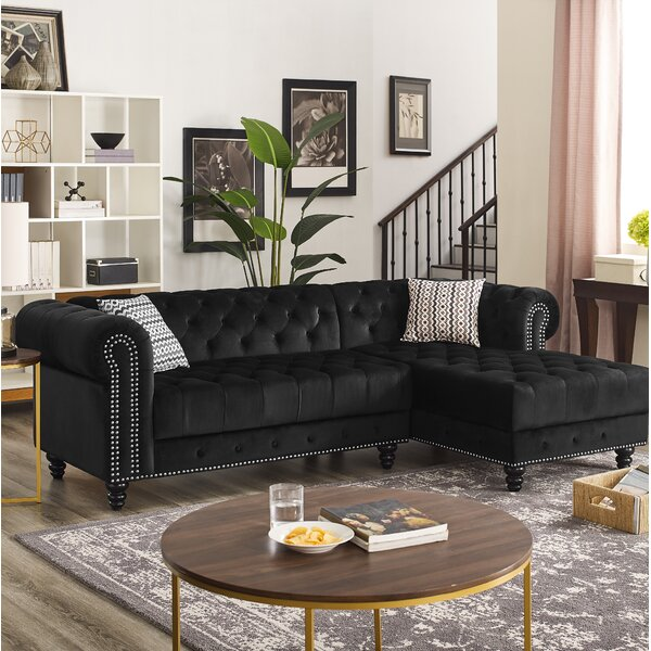 Millry Right Hand Facing Chesterfield Modern Sectional By House Of Hampton