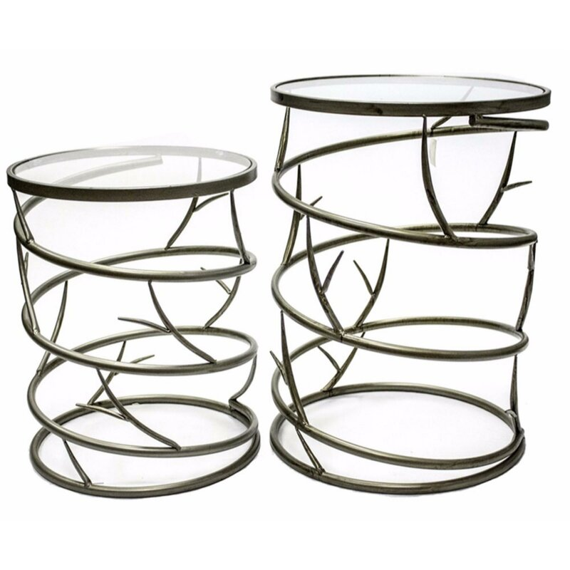 Union Rustic Penland Spiky 48 Piece Nesting Tables Wayfair Fascinating Penlands Furniture Style