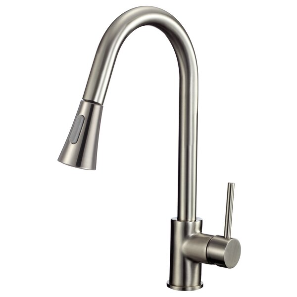 Valcea Series Pull Out Single Handle Kitchen Faucet by ANZZI