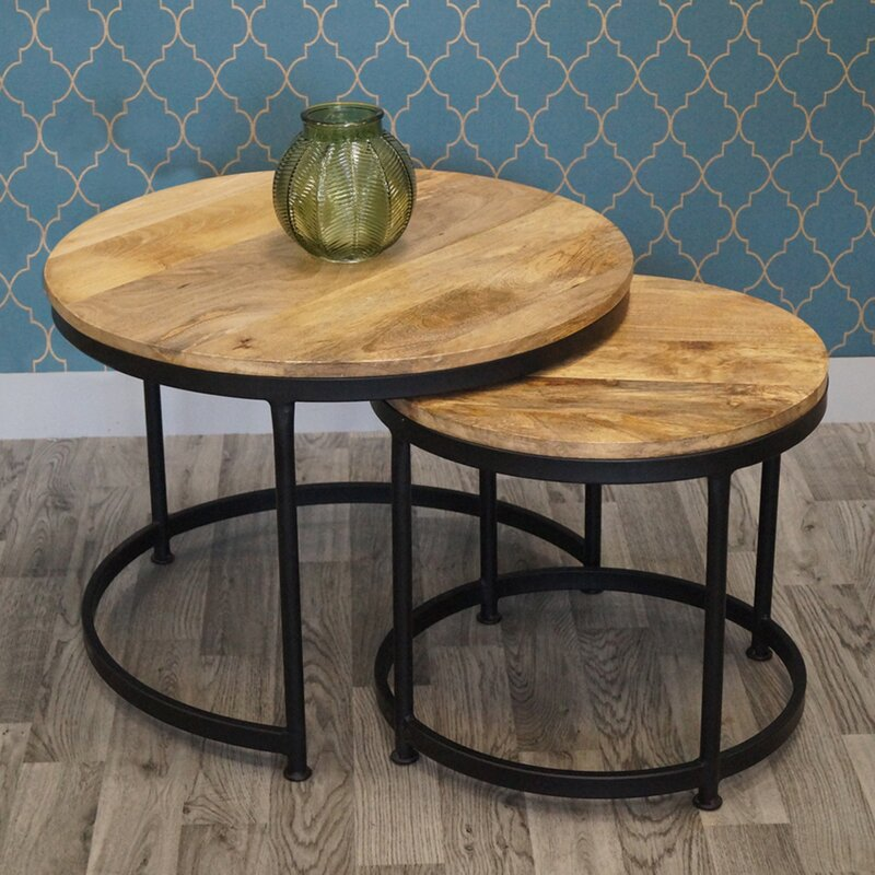 Mercury Row 2 Piece Coffee Table Set Wayfair Co Uk