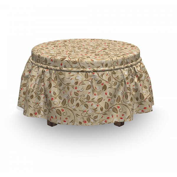 Abstract Tender Stems Ottoman Slipcover (Set Of 2) By East Urban Home