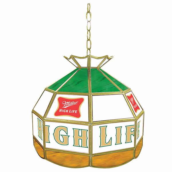 Miller High Life 16 Stained Glass Tiffany Lamp by Trademark Global