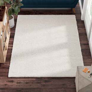 Compare prices Melodee Shag White Area Rug By Ivy Bronx