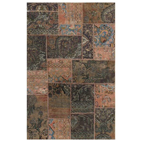 One-of-a-Kind Medota Hand-Knotted Wool Brown Area Rug by Bloomsbury Market