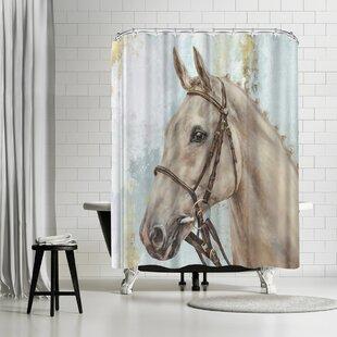 Best Price PI Creative Art Show Horse Shower Curtain ByEast Urban Home