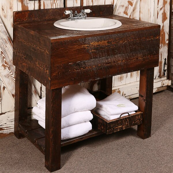 36 Single Rough Hewn Bathroom Vanity Set by Utah Mountain