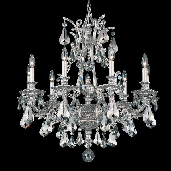 Sophia 9-Light Candle Style Classic / Traditional Chandelier by Schonbek Schonbek