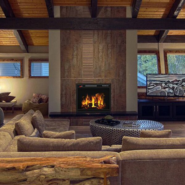 Gibbs Flat Electric Fireplace Insert by Ebern Designs