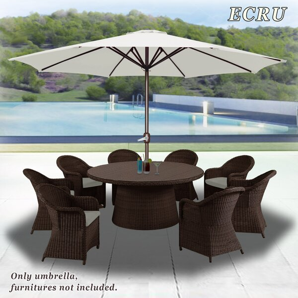 Rosaura Octagonal Outdoor Garden Parasol Patio Market Umbrella by Darby Home Co